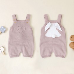 Mimixiong 100% Cotton Baby Knitted Sleeveless Rompers 82W707