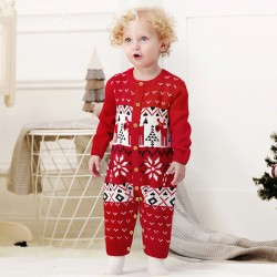 Mimixiong Baby Knitted Christmas Romper 82W289