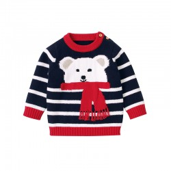 Mimixiong 100% Cotton Baby Knitted Sweater 82W395