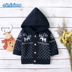 Mimixiong Baby Knitted Christmas Coats 82W308