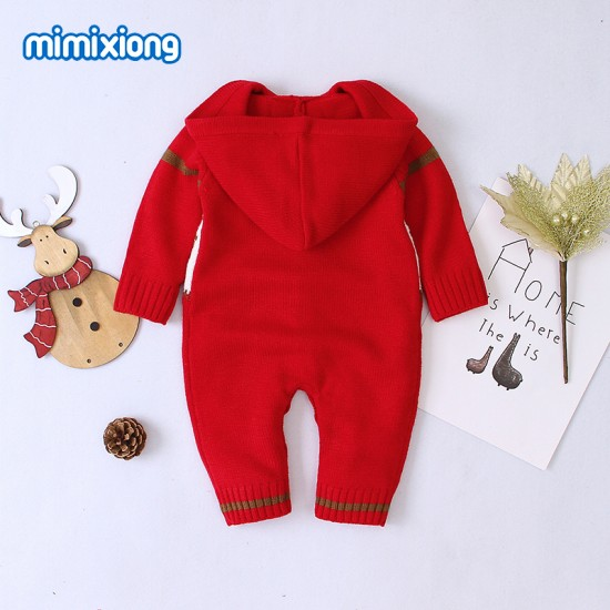 Mimixiong Baby Knitted Christmas Romper 82W310