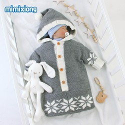 Mimixiong Baby Knitted Sleeping Bag 82W421