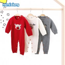 Mimixiong Baby Knitted Christmas Romper 82W426