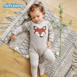 Mimixiong 100% Cotton Baby Knitted Romper 82W452
