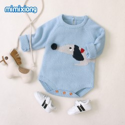 Mimixiong 100% Cotton Baby Knitted Romper 82W483