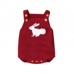 Mimixiong 100% Cotton Baby Knitted Sleeveless Rompers 82W505