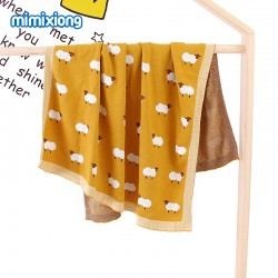 Mimixiong 100% Cotton Baby Knitted Blankets 82W520