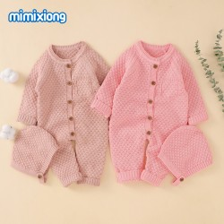 Mimixiong 100% Cotton Baby Knitted 2pc Clothing Set 82W525