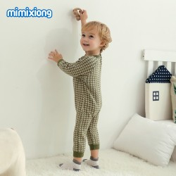 Mimixiong 100% Cotton Baby Knitted 2pc Clothing Set 82W530