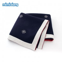 Mimixiong 100% Cotton Baby Knitted Christmas Blankets 82W546