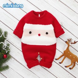 Mimixiong Baby Knitted Christmas Romper 82W554