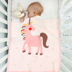 Mimixiong 100% Cotton Baby Knitted Blankets 82W555