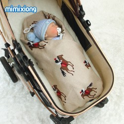 Mimixiong 100% Cotton Baby Knitted Blankets 82W592