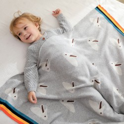 Mimixiong 100% Cotton Baby Knitted Blankets 82W615