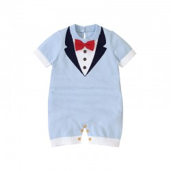Mimixiong 100% Cotton Baby Knitted Sleeveless Rompers 82W616