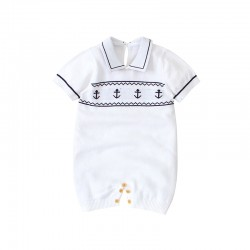 Mimixiong 100% Cotton Baby Knitted Sleeveless Rompers 82W619