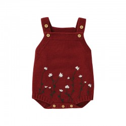Mimixiong Baby Knitted Sleeveless Rompers 82W641