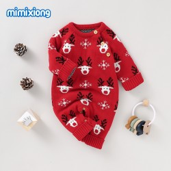 Mimixiong Baby Knitted Christmas Romper 82W657