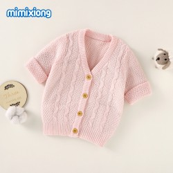 Mimixiong 100% Cotton Baby Knitted Coats 82W666