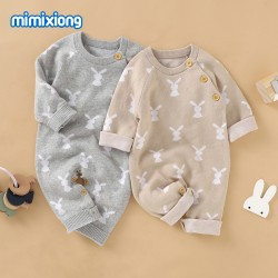 Mimixiong 100% Cotton Baby Knitted Romper 82W667