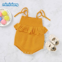 Baby Knitted Sleeveless Romper 82W747