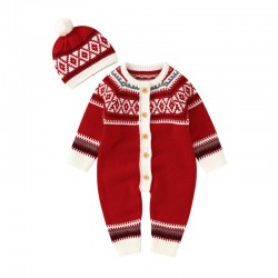 Mimixiong Baby Knitted Christmas 2pc Clothing Set 82W780