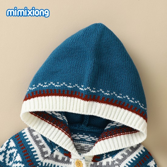 Mimixiong Baby Knitted Christmas Coats 82W781