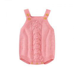 Mimixiong 100% Cotton Baby Knitted Sleeveless Rompers 82W787