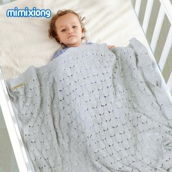 Mimixiong 100% Cotton Baby Knitted Blankets 82W817