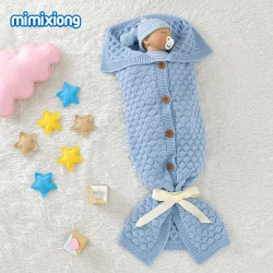 Mimixiong Baby Knitted Sleeping Bag 82W855