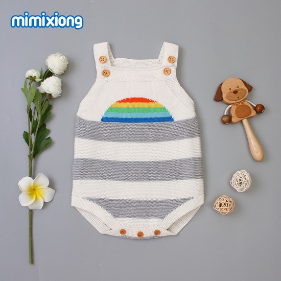 100% Cotton Baby Knitted Sleeveless Romper 82W403